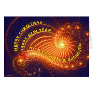 Grandson, a Christmas wish Card