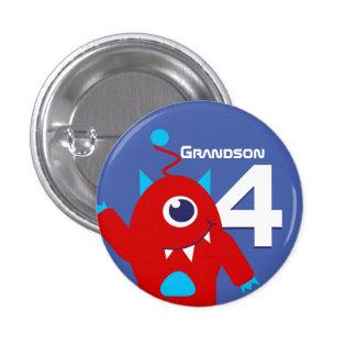 Grandson alien boys name age 4 button