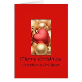 grandson and boyfriend Merry Christmas card