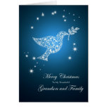Grandson and family, Dove of peace Christmas card