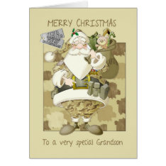 grandson, armed forces military Christmas greeting Card at Zazzle