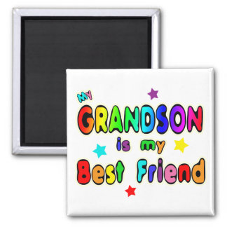 Grandson Best Friend 2 Inch Square Magnet