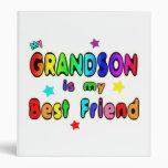 Grandson Best Friend 3 Ring Binders