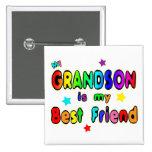 Grandson Best Friend Button
