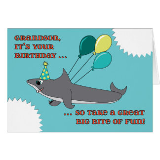 great white shark greeting cards  zazzle, Birthday card