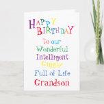 "grandson birthday card.boys.sons.male card<br><div class=""desc"">from my heart</div>"