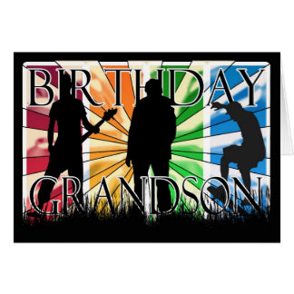 Grandson Birthday Card Male Modern