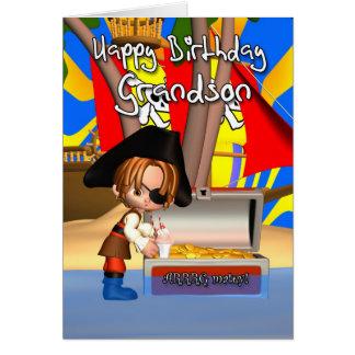 Grandson Birthday Card Pirate Treasure