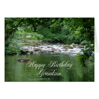 Grandson birthday card showing a river