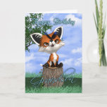 """Grandson Birthday Card With Cute Fox And Butterfly<br><div class=""""desc"""">Grandson Birthday Card With Cute Fox And Butterfly</div>"""