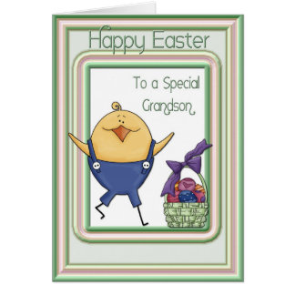 Grandson Chick Easter Card