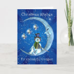 """grandson christmas card with snowman<br><div class=""""desc"""">grandson christmas card with snowman</div>"""