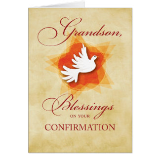 Grandson, Confirmation Congratulations Blessings Card