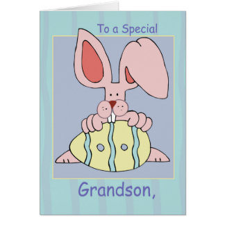 Grandson Ear-Resistible Easter Card