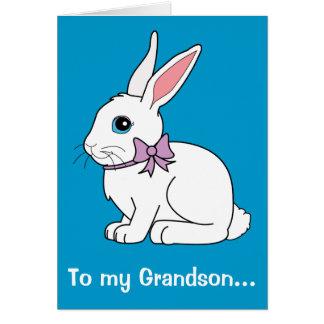 Grandson Easter Bunny Card