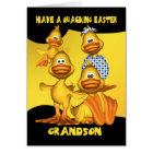 Grandson, Easter Card With Fun Ducks, Quacking Eas