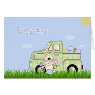 Grandson, Easter Truck Card