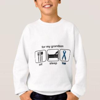 Grandson Eat Sleep Hope - Colon Cancer Sweatshirt