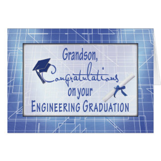 Grandson, Engineering Graduation Congratulations Card