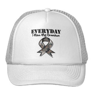 Grandson - Everyday I Miss My Hero Military Trucker Hat