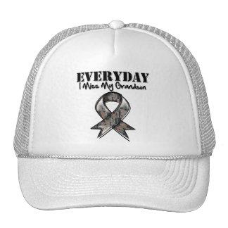 Grandson - Everyday I Miss My Hero Military Mesh Hats