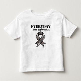 Grandson - Everyday I Miss My Hero Military T-shirts