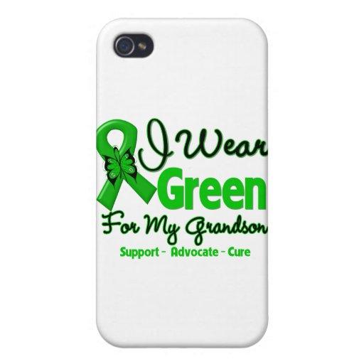 Grandson - Green Awareness Ribbon Cover For iPhone 4