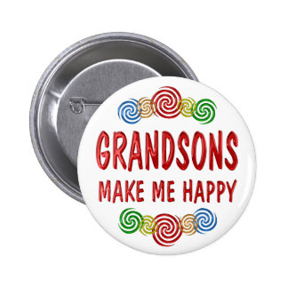 Grandson Happiness Pins