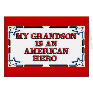 Grandson Hero Stationery Note Card