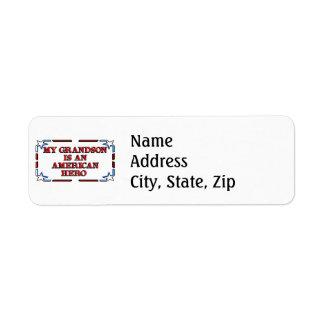 Grandson Hero Return Address Label