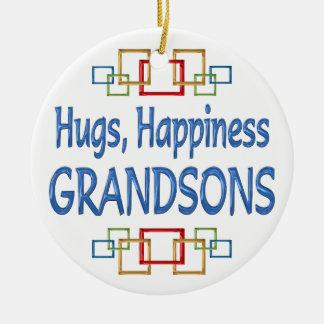 Grandson Hugs Christmas Ornaments