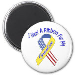 Grandson - I Wear A Ribbon Military Patriotic 2 Inch Round Magnet