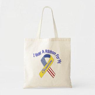 Grandson - I Wear A Ribbon Military Patriotic Tote Bag