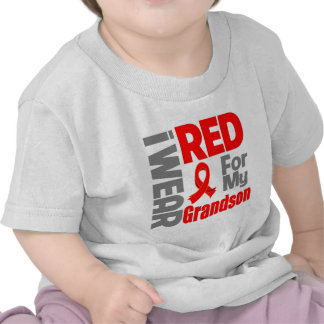 Grandson - I Wear Red Ribbon T Shirts