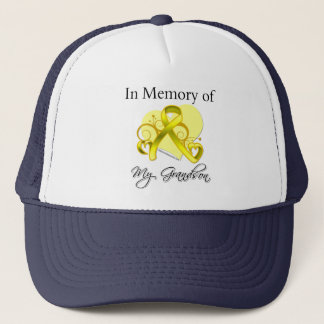 Grandson - In Memory of Military Tribute Trucker Hat