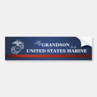 Grandson is a Marine Car Bumper Sticker