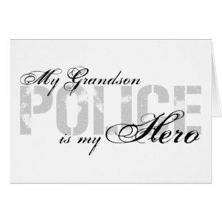 Grandson Is My Hero - POLICE Card