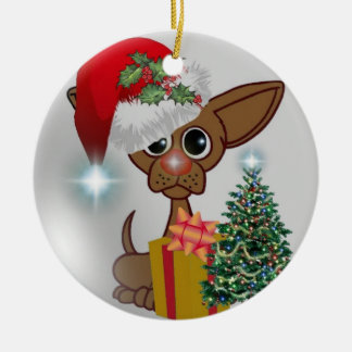 "Grandson - It's A ""Mousy Dog's Christmas"" Ornament"