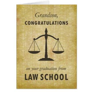 Grandson, Law School Graduation Congratulations Sc Card