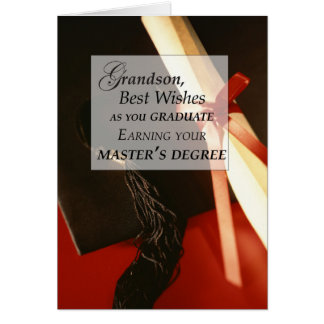 Grandson Master's Degree Graduation Wishe Card