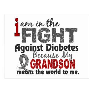 Grandson Means World To Me Diabetes Postcard