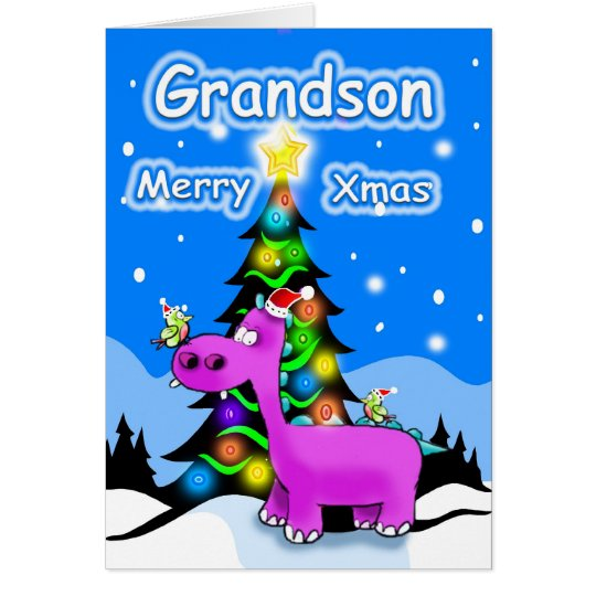 grandson merry christmas card