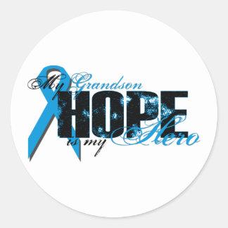 Grandson My Hero - Prostate Hope Classic Round Sticker