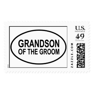 Grandson of the Groom Wedding Oval Postage Stamp
