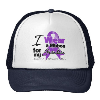 Grandson - Pancreatic Cancer Ribbon Hats