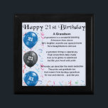"Grandson Poem  -  21st Birthday Gift Box<br><div class=""desc"">A great gift for a grandson on his 21st birthday</div>"
