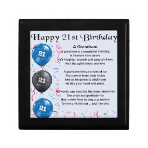 21st Birthday Gift Boxes Keepsake