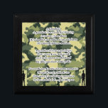 "Grandson Poem Army Camouflage Jewelry Box<br><div class=""desc"">A great gift for a special grandson</div>"