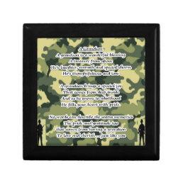 Grandson Poem Army Camouflage Jewelry Box