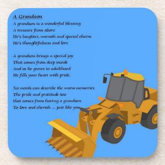 Grandson Poem - digger Coaster
